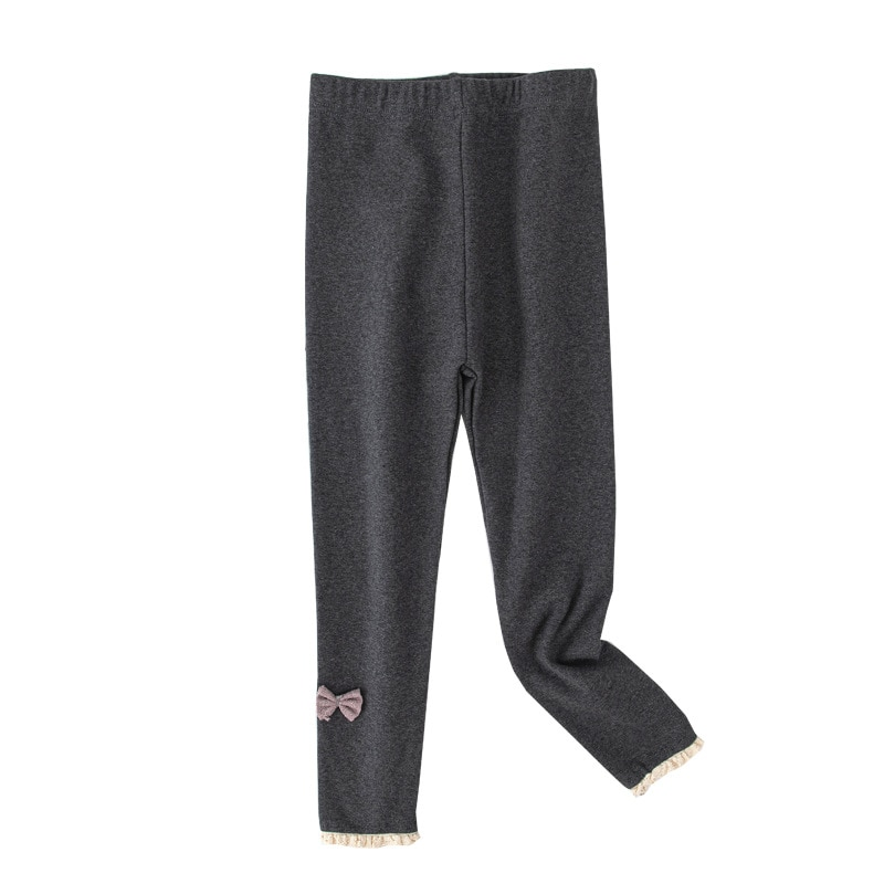 Kids Pants Spring Autumn Wear Girl  Leggings All-Match Cotton Baby Kids Outer Pants Girl Nine-Point Pants Baby Children Trousers