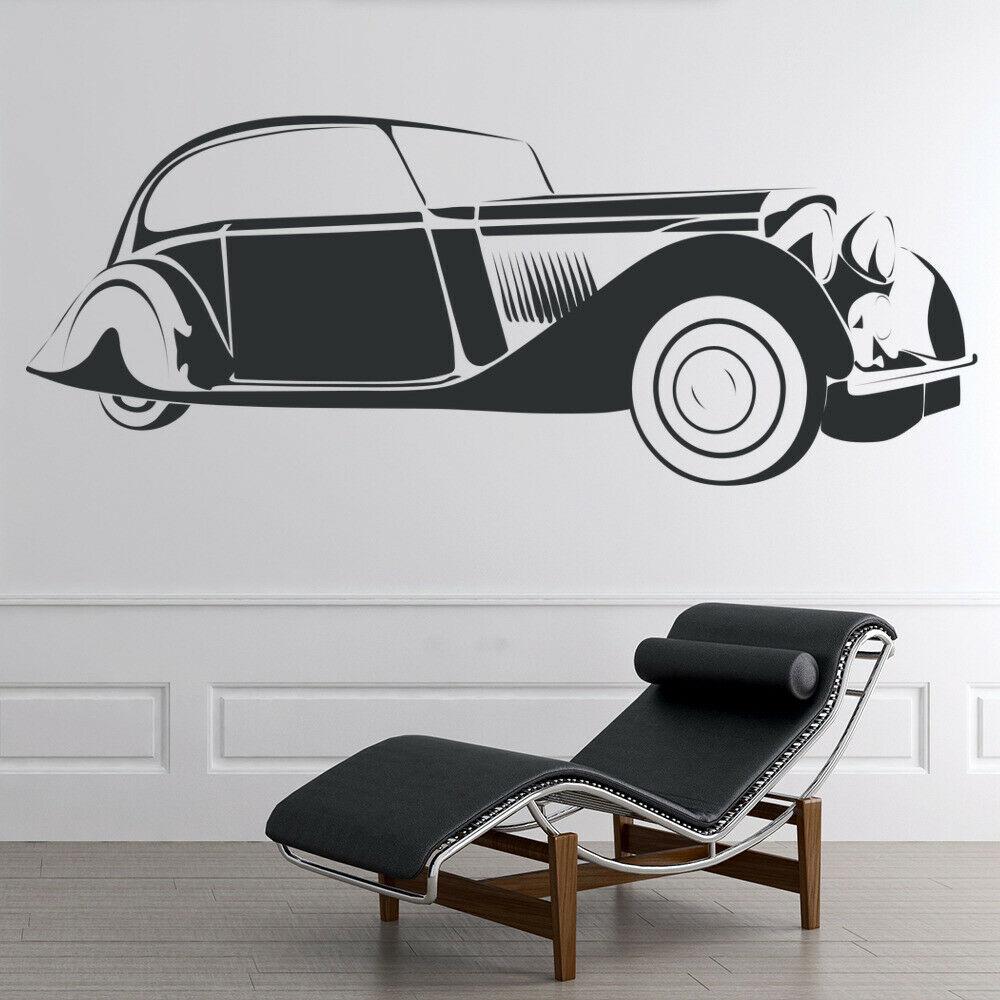 Vintage Car Wall Decal Retro Transport Cars Art Mural Bedroom Living Room Man Cave Garage Home Decor Vinyl Glass Stickers M865