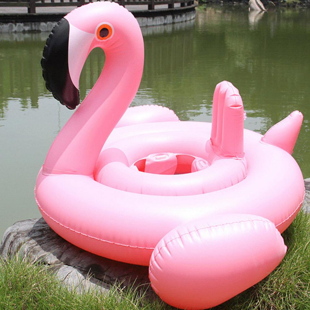 Kids Baby Swim Ring Inflatable Flamingo Swimming Ring Summer Beach Party Pool Toys Swimming Circle Pool Float Seat Accessories women floral print swimming ring pink inflatable flamingo swimming circle inflatable donut lifebuoy girls beach toys 2019 summer