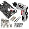 Tournevis électrique 4.8V charge multifonction perceuse à main avec 45 embouts jeu de tournevis électriques sans fil