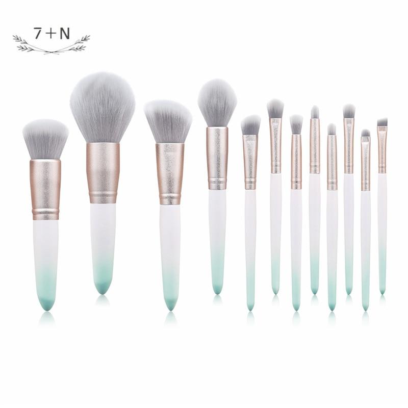 12 pincel de maquillaje color maquillaje en polvo molido arenoso cambio gradual verde belleza maquillaje herramienta chica es encantador poco puro y f