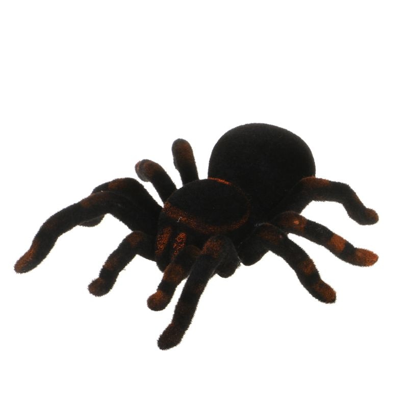 Remote Control Soft Scary Plush Creepy Spider Infrared RC Tarantula Kid Gift Toy 95AE