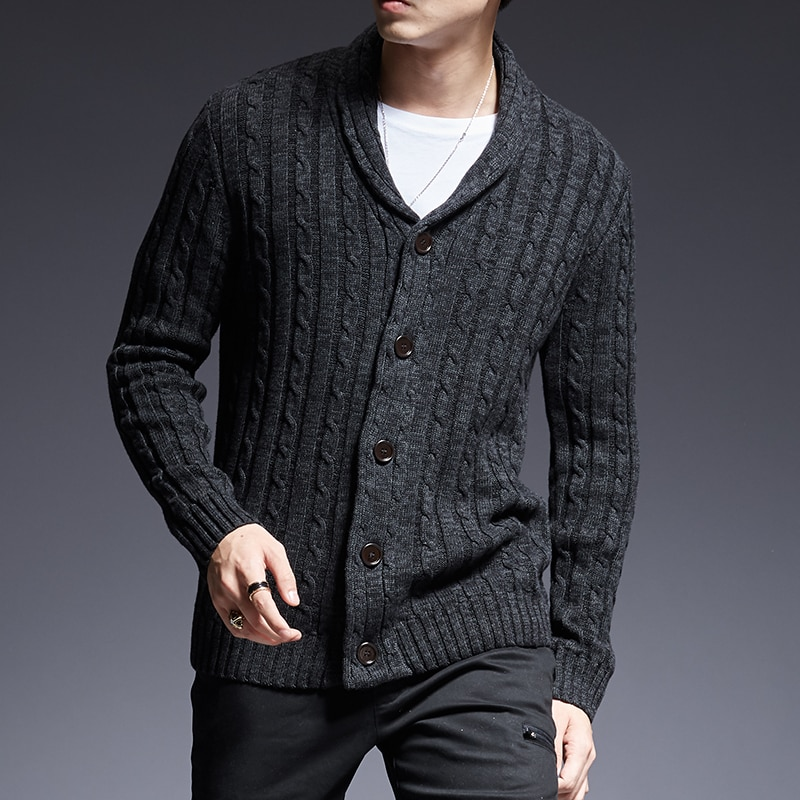 2021 New Fashion Brand Sweater Man Cardigan Thick Slim Fit Jumpers Knitwear High Quality Autumn Korean Style Casual Mens Clothes