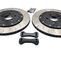 automotive brake assembly rear wheel large brake disc 35510mm rotor and center cap with bracket for 18 inch wheels