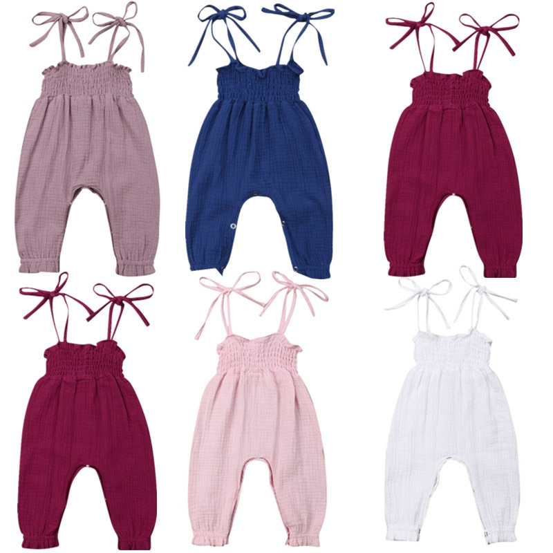 Pudcoco, ropa de verano para bebés recién nacidos, Pelele de tirantes, mono, pantalones, trajes, traje de verano