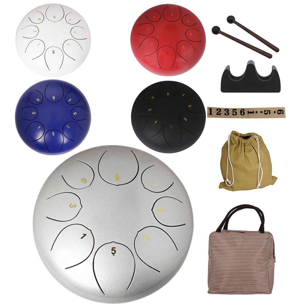 10 Inch 8 Tone Steel Tongue Drum Ethereal Percussion for Yoga Meditation Handpan Tank Drum With Bag Musical Instrument Parts enlarge
