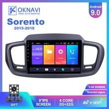 OKNAVI pour Kia Sorento 2015 2016 2017 2018 autoradio Android 9.0 Automotivo voiture lecteur Dvd 10 pouces tactile IPS écran DSP 4G + WIFI