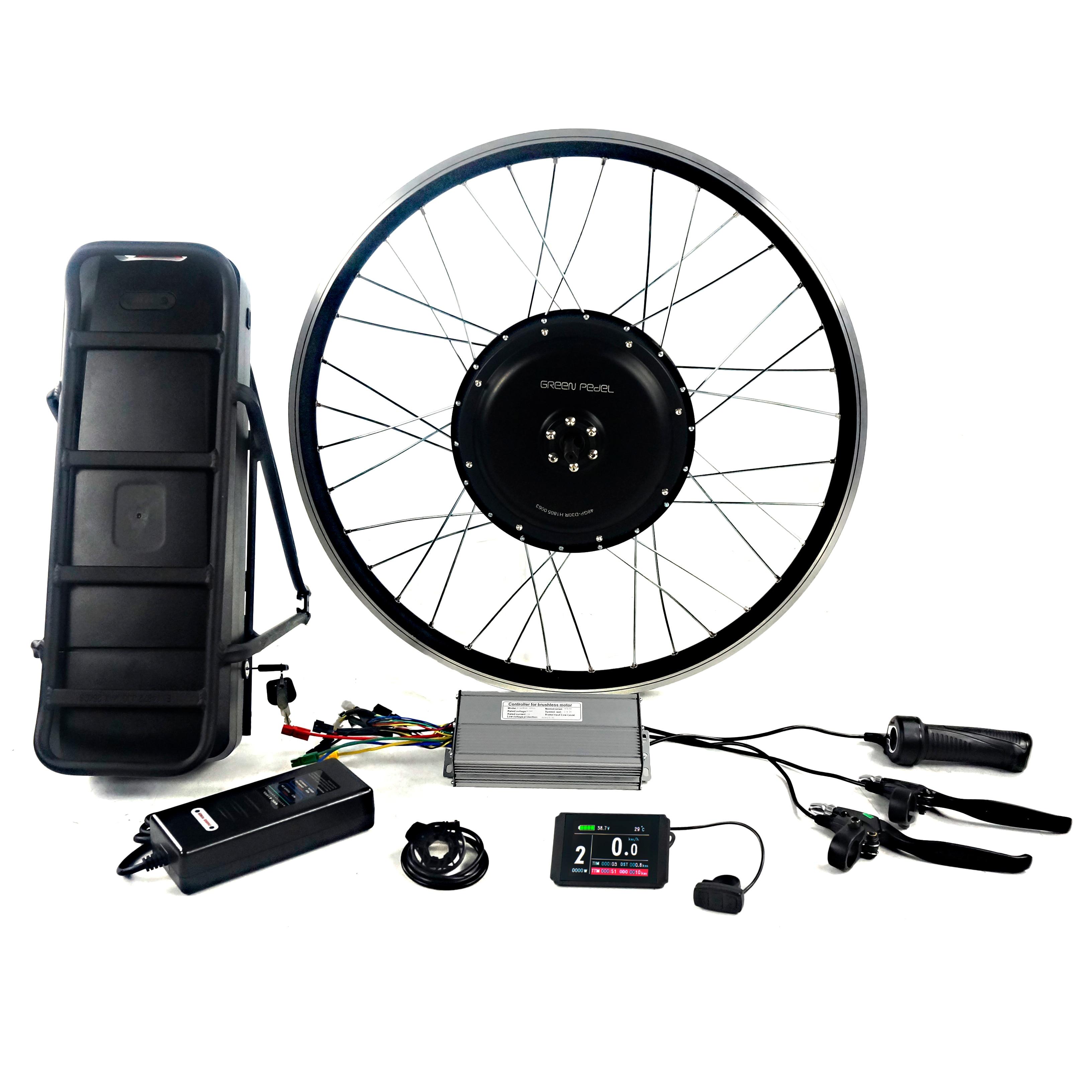 Greenpedel أعلى قوة 48 فولت 1000 واط دراجة كهربائية عدة بالجملة مع ملحقات دراجة أخرى