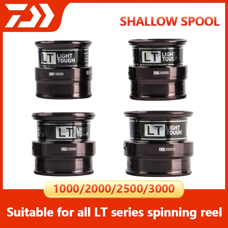 DAIWA SLP LT Spinning Reel Spare Shallow Spool 1000 2000 2500 3000 For FREAMS FUEGO REGAL EXCELER LEGALIS REVROS Fishing Reels