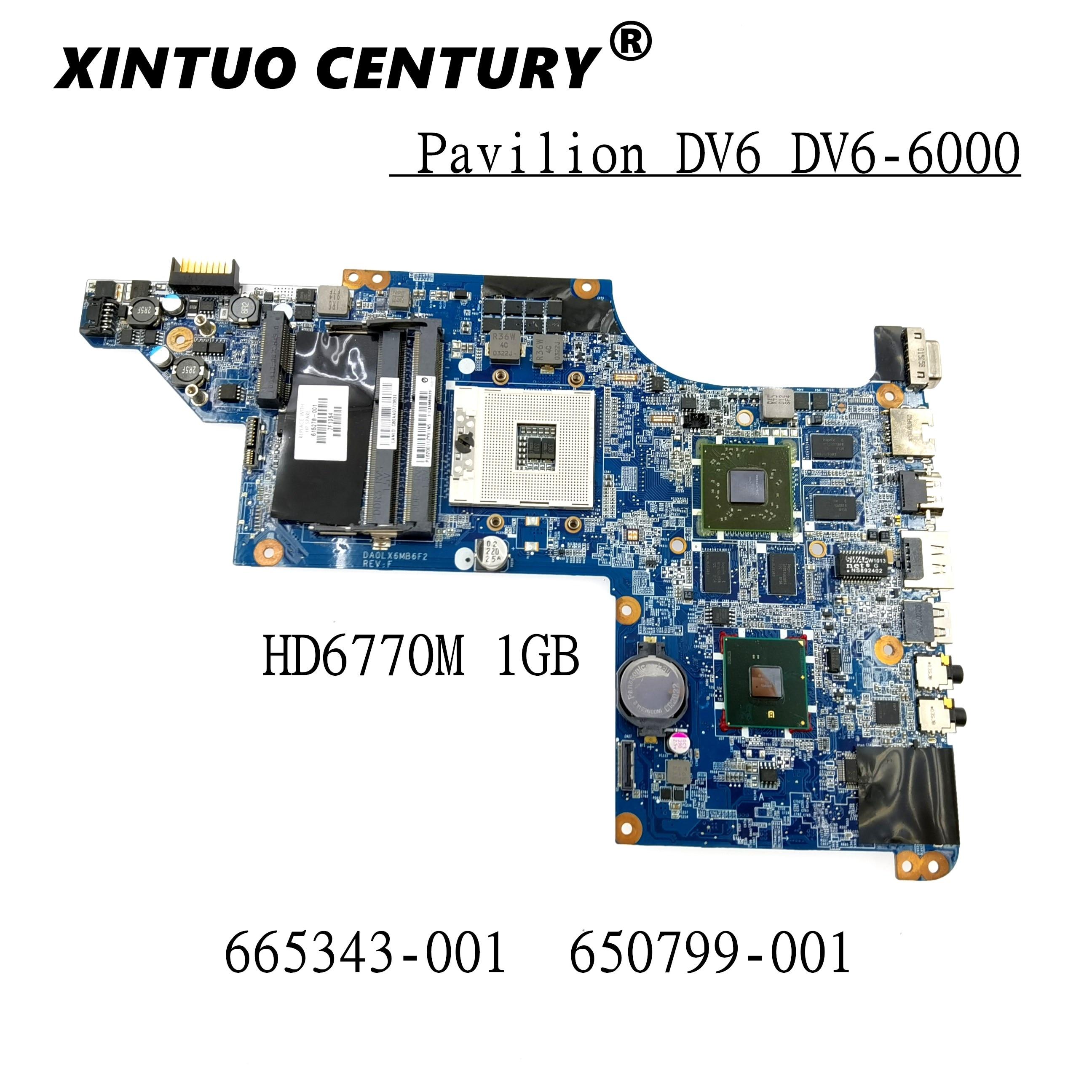 650799-001 665343-001 Tablero Principal para HP Pavilion DV6 DV6-6000 placa base de...