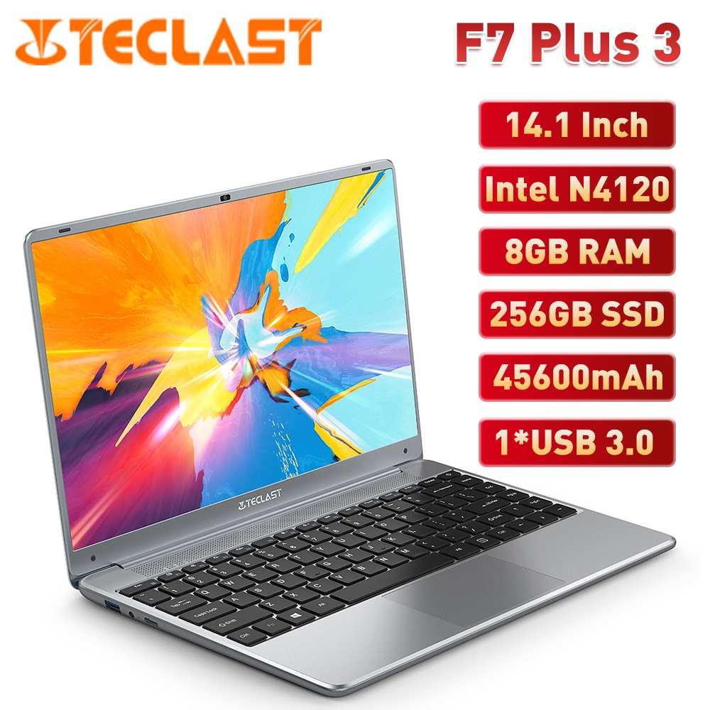 Review Teclast F7 Plus 3 Laptop 14.1 Inch Notebook Intel N4120 UHD 600 8GB RAM 256GB SSD Windows 10 Notebooks 45600mAh 1920 x 1080 IPS