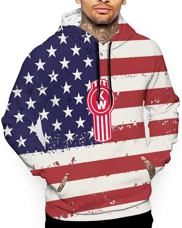 العلم الأمريكي الرجال ثلاثية الأبعاد مطبوعة طويلة الأكمام هوديي مع جيوب مقنعين الرجال البلوز للسفر كل مباراة