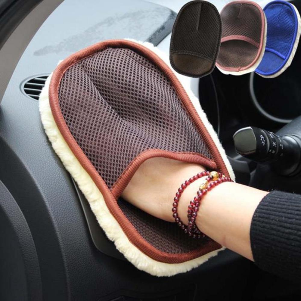 Cepillo de esponja suave de lana para lavado de coches limpiador de cristal de onda azul limpiador de coches herramienta de limpieza de coches limpiadora de motocicleta