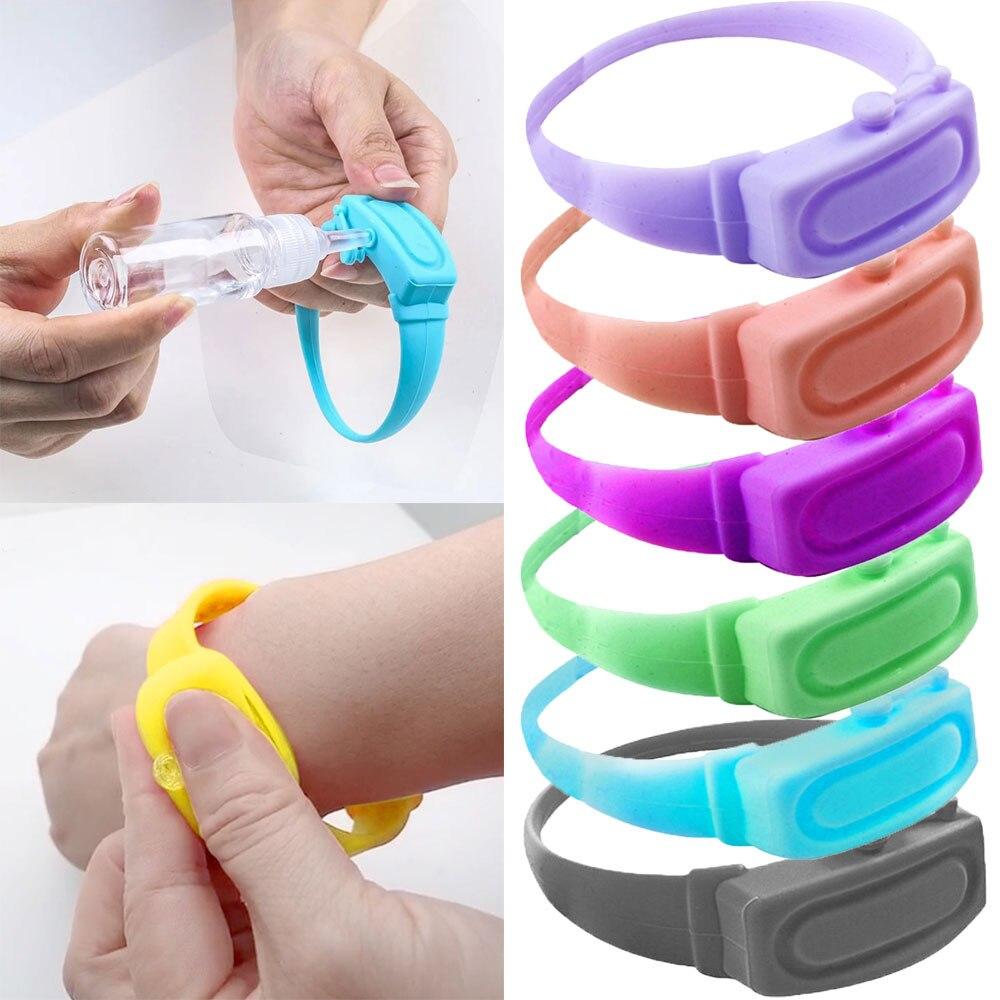 Hand Sanitizer Desinfektions Sub-verpackung Silikon Armband Armband Hand Dispenser Tragbare Hand Sanitizer Dispenser Pumpen