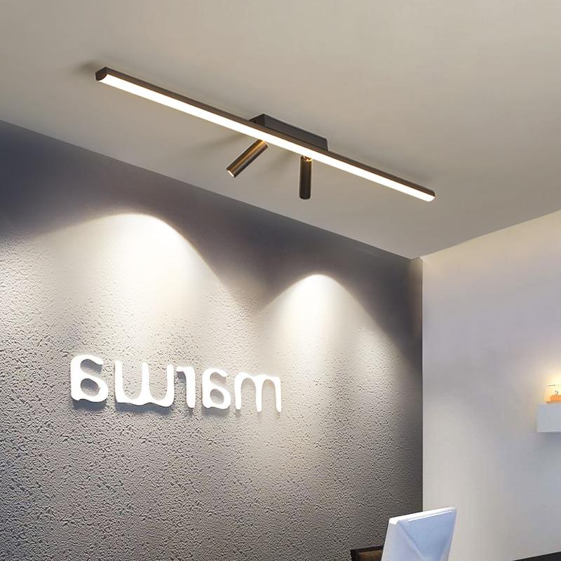 بسيطة الحديثة LED السقف الثريا لغرفة النوم غرفة المعيشة الممر ممر شرفة المطبخ أسود AC90-260V الثريا الإضاءة