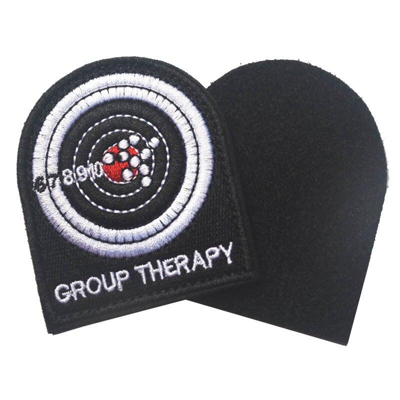 Insignia de parche de Velcro moral para chaqueta y mochila parche táctico parche de terapia de grupo ejército de combate