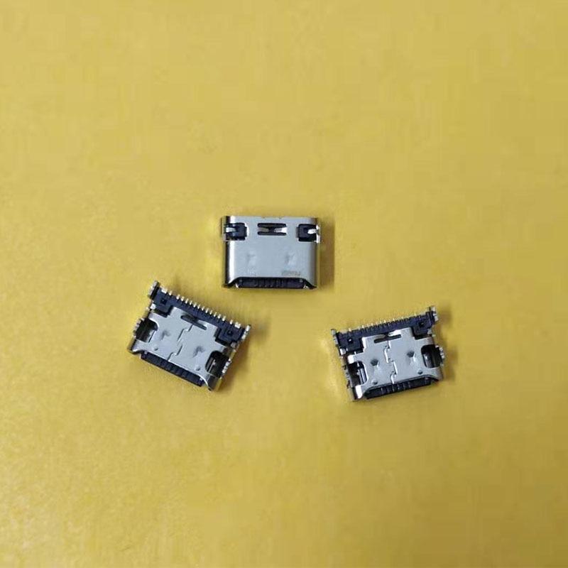 50 pçs/lote usb porto de carregamento plug dock conector soquete cabo flexível para samsung galaxy a80 a8050/a90 5g a9080