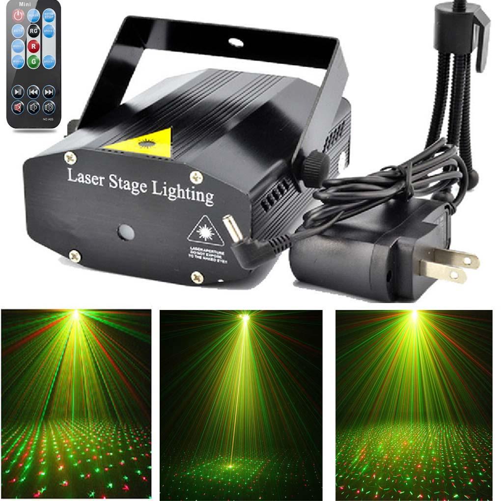 مصباح شعاع ضوء LED مع تحكم صوتي ، جهاز عرض ليزر Luz لـ DJ KTV ، تأثير حفلة الكريسماس ، أضواء المسرح ، هدية عطلة رأس السنة الجديدة