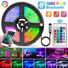1-30M LED Strip Light USB Bluetooth 5050/2835 RGB Light SMD DC5V flessibile LED lampada nastro nastro TV schermo Desktop diodo retroilluminazione