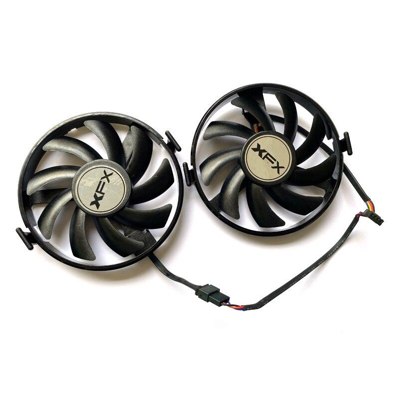 2PCS FDC10U12S9-C 4PIN R9 370 4G Fan For XFX R9 380 380X R9 370 370X RX460 560 R7 350 360 370 Graphics Card Fans FY09010H12LPB enlarge