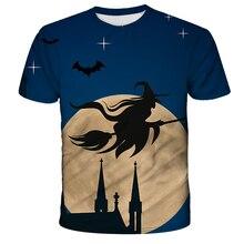 2020 Skull Halloween Party 3D T shirt MenTshirt Print Tops Casual Tees Streetwear Male Breathable Fashion Shot Sleeves T-Shirt
