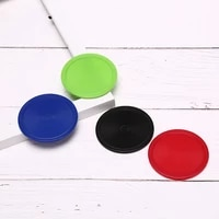 64mm red air hockey children table mallet puck goalies air hockey pucks ice pucks table game party tools entertainment 8 pcs