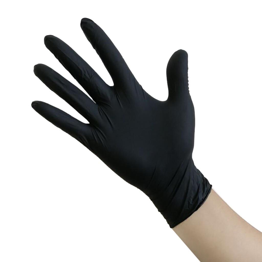 2021Hot Sale 50/100pcs Black Blue Disposable Rubber Powder-free Pvc Fits Hands Tightly.Transparent Gloves Wonderlife 2021