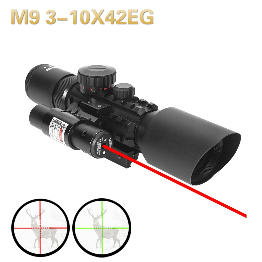 3x magnifier lens for side flip mount fit red dot sight scope picatinny weaver rial mount base de m1243 M9 3-10x42EG tactical optics Reflex Sight night Riflescope Picatinny Weaver Mount Red Green Dot Laser hunting Sight Red scope