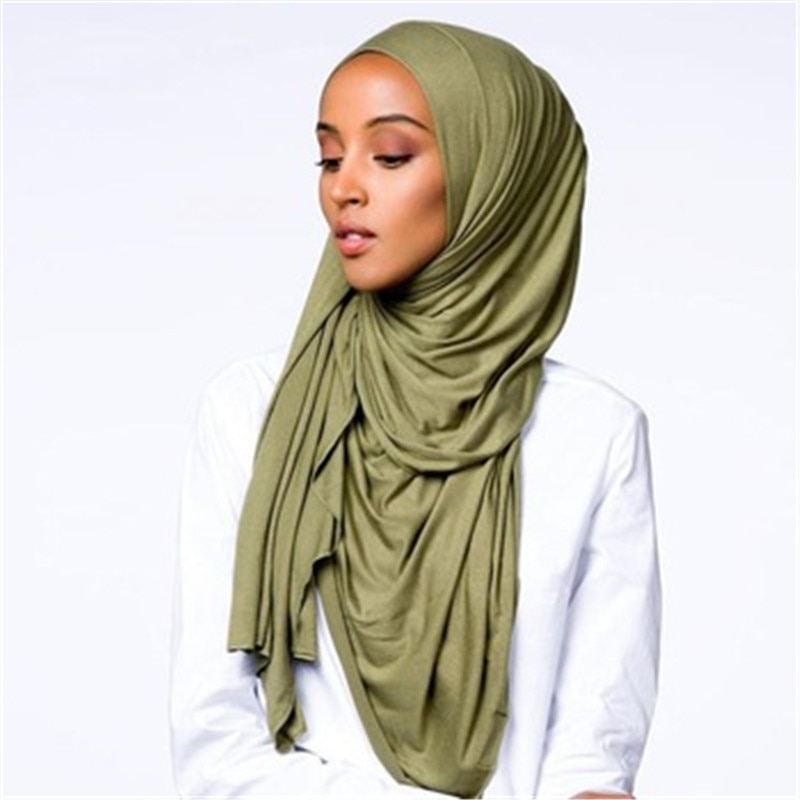 soild color cotton scarf hijab for muslim women stretch jersey headscarf female head wrap scarves turban foulard femme musulman 2020 new muslim women stretch rippled jersey scarf hijab islamic soild cotton headscarf arab wrap head scarves hijab femme