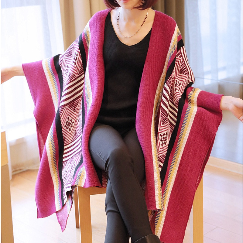 Maternity Knitted Cardigan Loose Sweater Coat Maternity Clothes Pregnant Jackets Loose Large Size  Maternity Outer Sweater Coat enlarge
