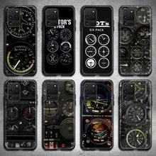Авиационный самолет вертолет кабины инструмент чехол для телефона Samsung Galaxy S21 Plus Ultra S20 FE M11 S8 S9 плюс S10 5G lite