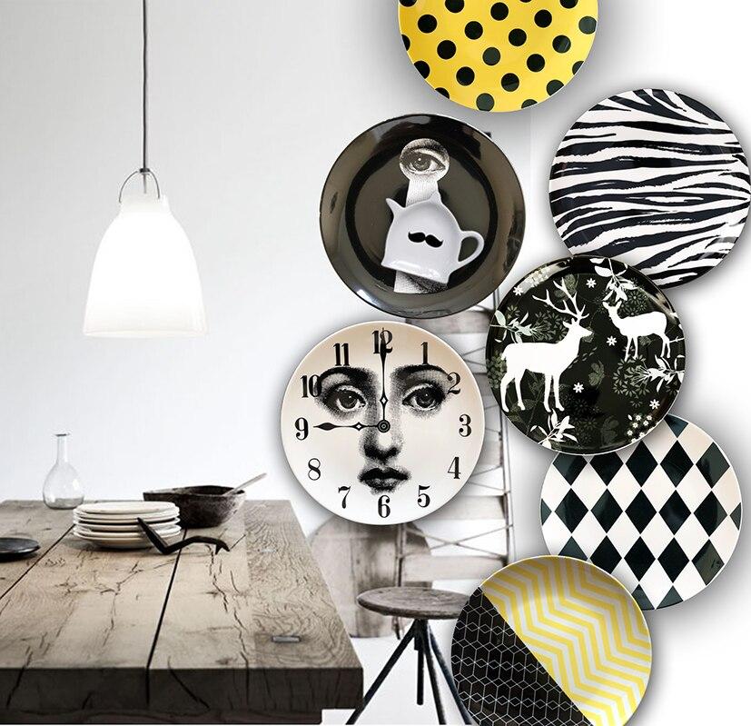 8 zoll Geometrie keramik Teller teller dessert platte snack platte kuchen platte dekoration geschirr dekoration Hängen platte