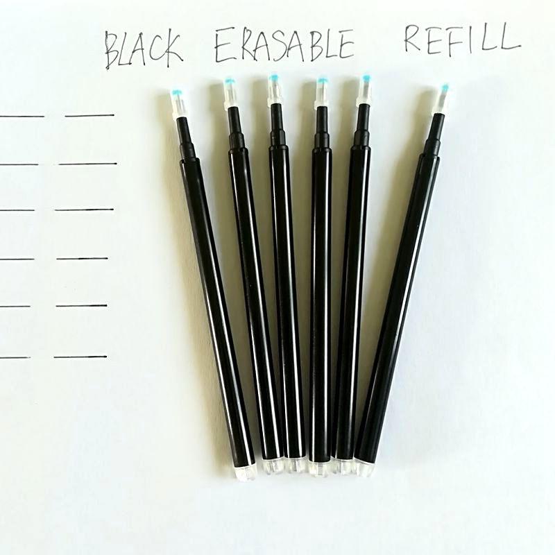 Recambio de pluma de gel se elimina por fricción Oficina papelería Unisex Frixion Pen rellenar lápiz borrable lápiz gel Unisex Learning essential