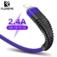 floveme 2 4a usb lighting cable for iphone xr x 7 charger cable usb type c charging cable data nylon braid usb c cables for ipad