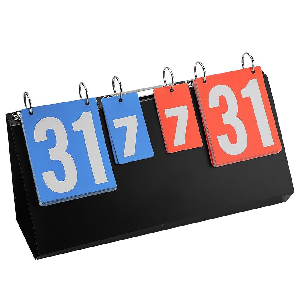 المحمولة 4 أرقام المنافسة الرياضية لوحة النتائج سهلة الاستخدام ل تنس طاولة كرة السلة الريشة كرة القدم الكرة الطائرة النتائج
