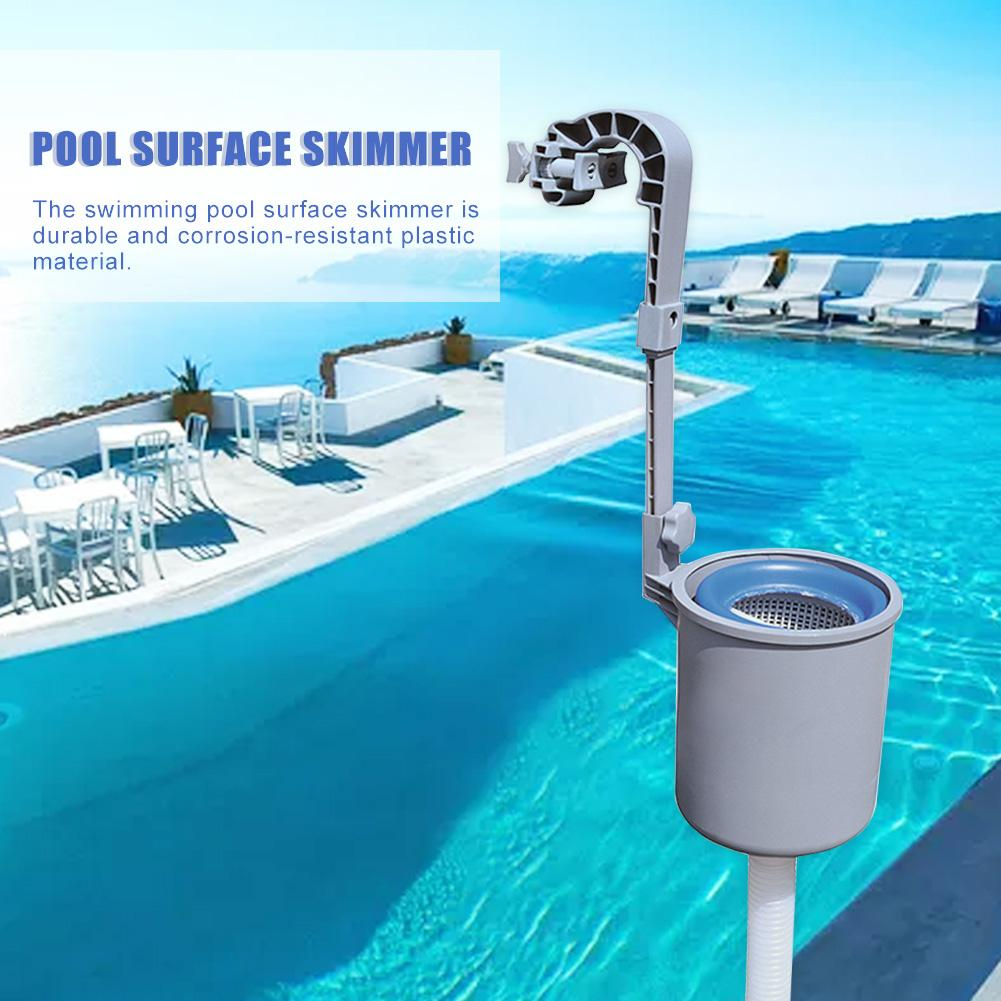 2020 nuevo Skimmer de la superficie de la piscina montaje en la pared filtro de la piscina automático Skimm limpieza de las hojas absorben los restos de la piscina herramienta de limpieza
