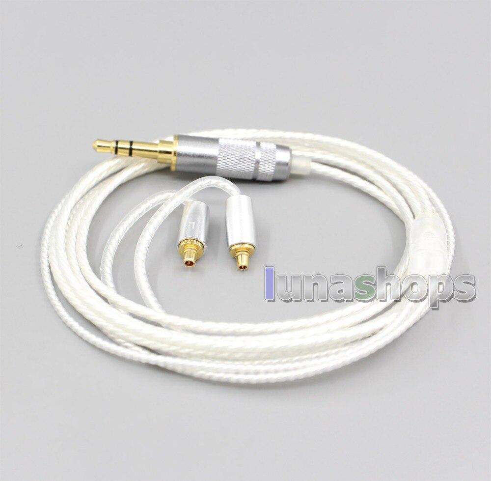 Ln006623 2.5mm 4.4mm 3.5mm hi-res prata chapeado cabo do fone de ouvido 7n occ para o titã 3 t3 de dunu t5 (comprimento do aumento mmcx)