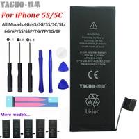 100% New Original AAAAA 1560mAh Battery For Apple iPhone 5 S/C 5S 5C SE iPhone5S Real Capacity 0 Cycle Free Repair Tools Kit