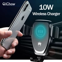 10w qi car wireless charger for iphone11 xs max xr x samsung s10 s9 intelligent wireless charging car phone holder for xiaomi
