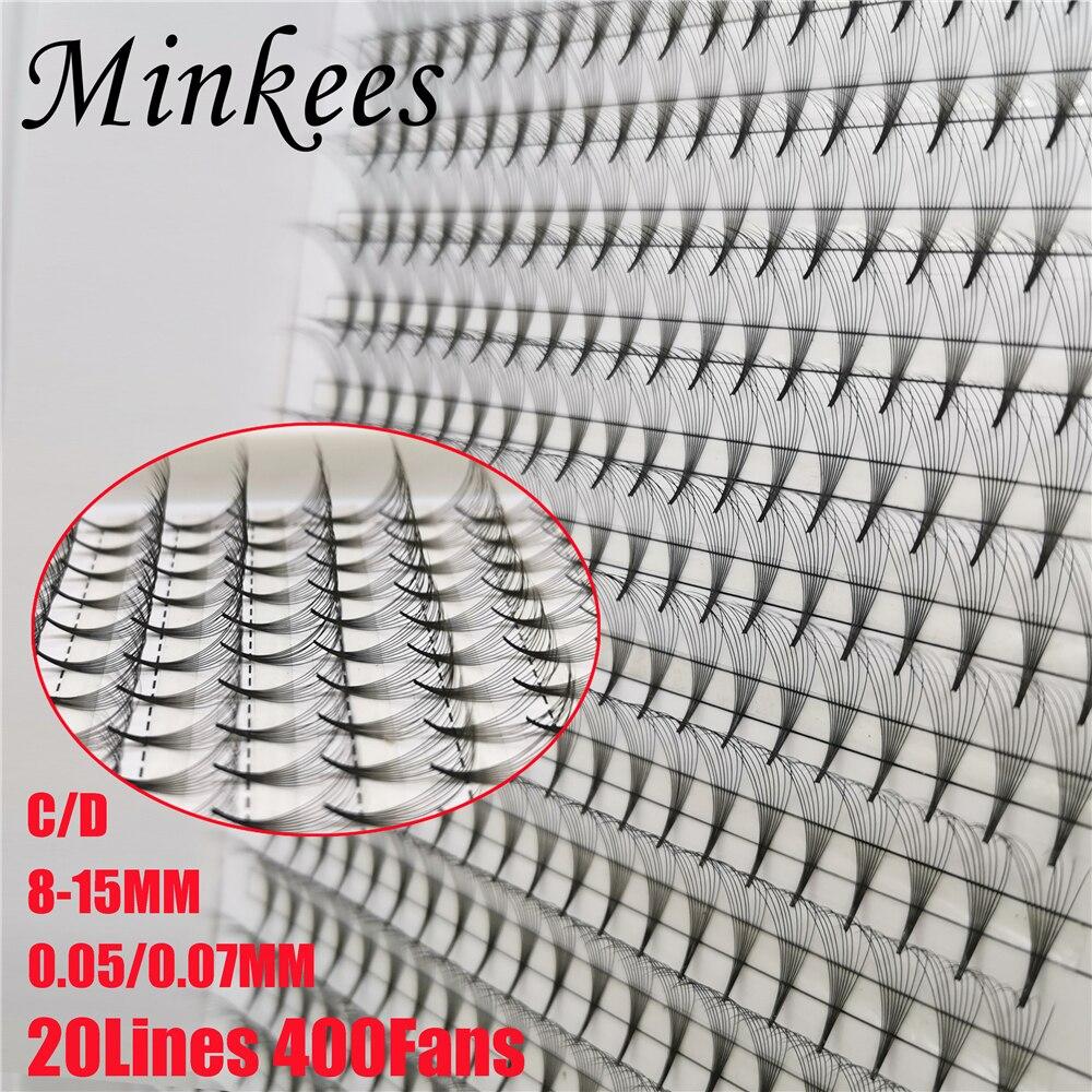Minkees pestañas Mega bandeja 400 fans sharp madre Premade ventilador para pestañas...
