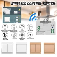 RF433 commutateur de lumiere intelligente sans fil auto-alimente panneau de commutateur mural telecommande commutateur de lumiere intelligente Assistant de maison intelligente