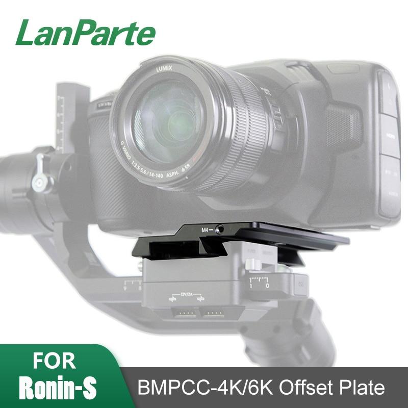Lanparte-لوحة جيمبال رونين S BMPCC 6K 4K ، لوحة إزاحة الكاميرا ، ملحقات gimbal