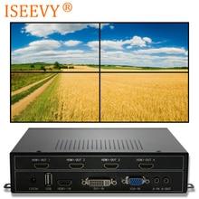 ISEEVY Video Wand Controller 2x2 HDMI DVI VGA USB Video Prozessor für 4 TV Spleißen Display