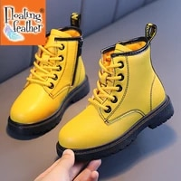 fashion yellow boots for children soft boots kids warm plush winter shoes boys girls toddlers boots plus size chaussures
