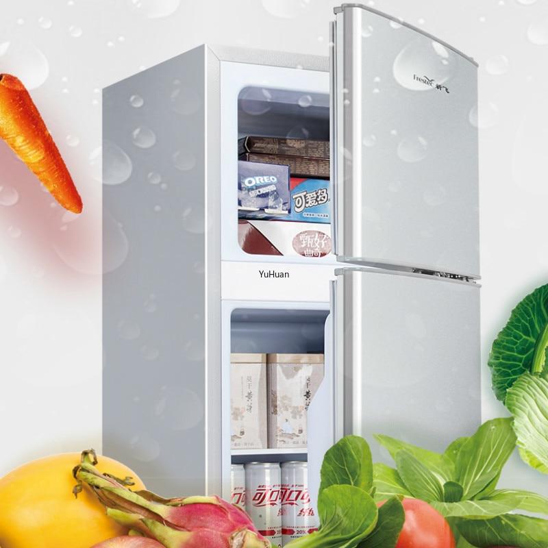 Pequeños refrigeradores domésticos de 220V y 72L, ahorro de energía, refrigeradores para alquiler, uso de oficina, almacenamiento en frío y refrigerador de congelación
