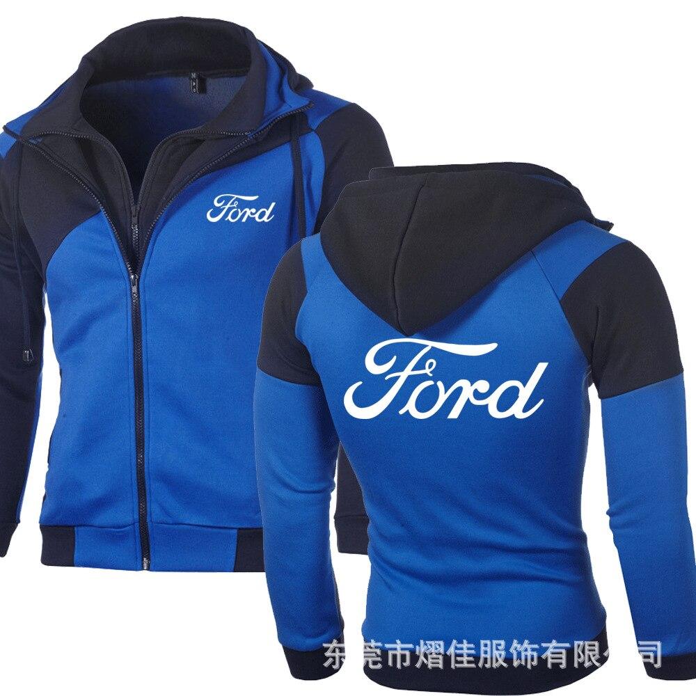 Primavera outono moda para ford hoodies masculino lã luminosa camisolas cardigan duplo zíper cosplay casaco t