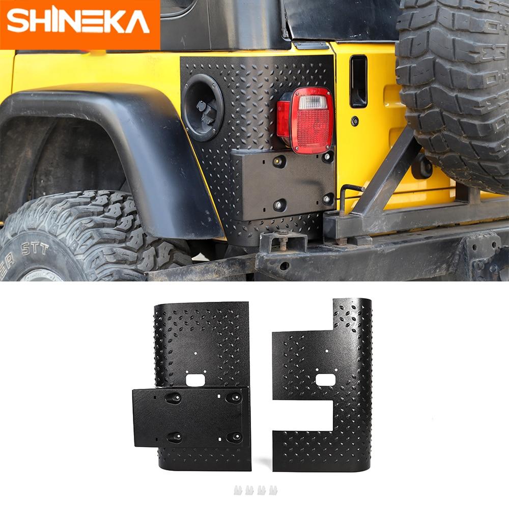 SHINEKA Car Sticker for Jeep Wrangler TJ 1997-2006 Car Rear Tail light Lamp Guard ABS Cover Trim Protector For Wrangler TJ