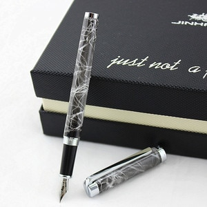 High Quality Irauarita Fountain Pen Full Metal Silver Clip Luxury Jinhao 155 Ink Pens Writing Stationery School Office Supplies