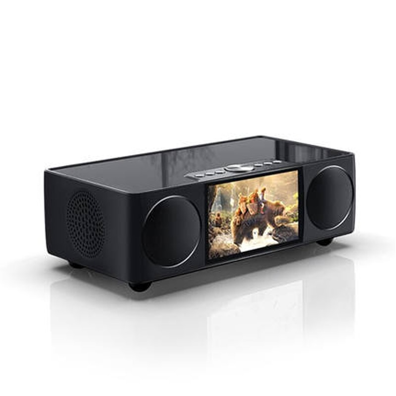 HIFI Video Bluetooth altavoz escritorio Control remoto inalámbrico portátil habitación reloj LED pantalla micrófono FM coche Subwoofer