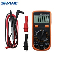 SHAHE Mini multimètre numérique ca rétro-éclairage LCD 2000 pays voltmètre ca/cc transistor testeur gamme manuelle VC202